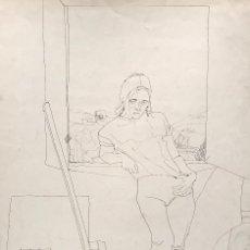 Arte: DIBUJO BOLÍGRAFO - JOAN GRANADOS LLIMONA - FIRMADO. Lote 119092607