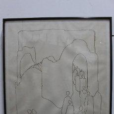 Arte: DIBUJO DEL PINTOR MAROLA (MANUEL RODRÍGUEZ LANA) FIRMADO . Lote 119137123