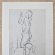 Arte: MUJER, DIBUJO AL CARBONCILLO, FIRMADO TOGORES. 24,5X35CM. Lote 119184803