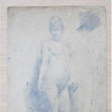Arte: JOAN LLIMONA (1860-1926), MUJER DESNUDA, DIBUJO. 24X44,5CM. Lote 119185695