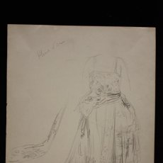Arte: ESTUDIO DE VESTIDO - JOSEP SIMONT. Lote 119191287