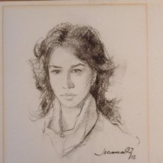 Arte: JOAN MARTI ARAGONES BARCELONA 1936 - SANT CUGAT 2009 DIBUJO SOBRE CARTULINA. Lote 119462703