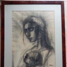 Arte: CUADRO MUJER CON SU HIJO. Lote 119536563