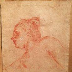 Arte: ESTUDIO DE CABEZA MUY PROXIMO A FRANÇOIS BOUCHER (1703-70). Lote 119556911
