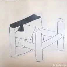 Arte: TÉCNICA MIXTA SOBRE PAPEL - AURELI RUÍZ - FIRMADO. Lote 119601155