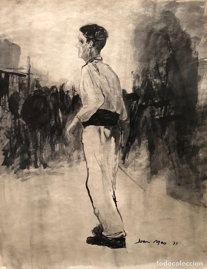 DIBUJO TINTA SOBRE PAPEL - 1977 - JOAN MAS - FIRMADO (Arte - Dibujos - Contemporáneos siglo XX)