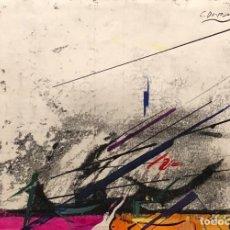 Arte: TÉCNICA MIXTA SOBRE PAPEL - JAUME GENOVART - FIRMADO. Lote 119622151