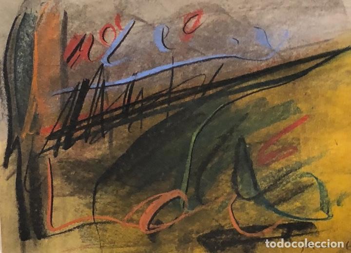 TÉCNICA MIXTA SOBRE PAPEL - JAUME GENOVART - FIRMADO (Arte - Dibujos - Contemporáneos siglo XX)