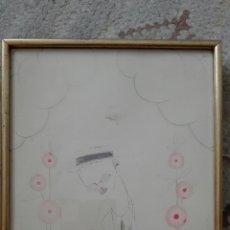 Arte: CARICATURA DE LLUIS BAGARIA: SR. IBARRA FIRMADO. Lote 119632099