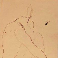 Arte: DIBUJO TINTA SOBRE PAPEL - CELSO LAGAR - FIRMADO + CATÁLOGO ( EL GENIO MIROBRIGENSE ). Lote 119652711