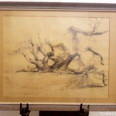 Arte: INTERESANTE DIBUJO FIRMADO KJELLMAN, CON ANOTACIONES (CATALUÑA....) ORIGEN NÓRDICO. 56X43CM. Lote 119691830