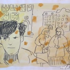 Arte: TÉCNICA MIXTA SOBRE PAPEL - IGNASI BLANCH - FIRMADA. Lote 119861739