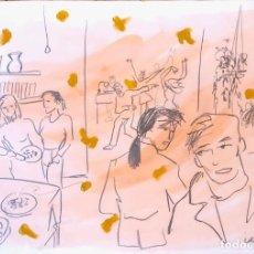 Arte: TÉCNICA MIXTA SOBRE PAPEL - IGNASI BLANCH - FIRMADA. Lote 119861871
