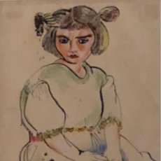 Arte: TÉCNICA MIXTA SOBRE PAPEL - 1950 - NIÑA - BENJAMÍN PALENCIA - FIRMADA. Lote 119887735