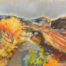 Arte: TÉCNICA MIXTA SOBRE PAPEL - JOSEP TORRELL - FIRMADA. Lote 119947911