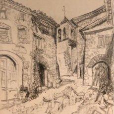 Arte: DIBUJO LÁPIZ SOBRE PAPEL - JOSEP TORRELL - FIRMADO. Lote 119948475