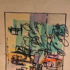 Arte: TÉCNICA MIXTA SOBRE PAPEL - BOSCH ROIGER - FIRMADA. Lote 119948711