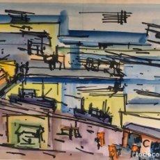 Arte: TÉCNICA MIXTA SOBRE PAPEL - BOSCH ROIGER - FIRMADA. Lote 119951123