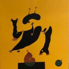Arte: JAUME ANGLÈS -TÉCNICA MIXTA SOBRE PAPEL - 1974 -. Lote 119953031