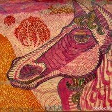 Arte: TÉCNICA MIXTA SOBRE PAPEL - 1969 - DINIGAN - FIRMADA. Lote 119962251