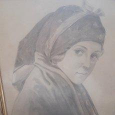 Arte: DIBUJO AL CARBÓN ORIGINAL AÑO 1942 FIRMADO RAIMUNDO. Lote 120011783