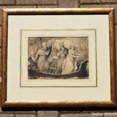Arte: ESPECTACULAR DIBUJO DE ESCENA CLÁSICA O MITOLÓGICA ARTISTA DESCONOCIDO DESCONOZCO SIN FIRMA. Lote 120081791