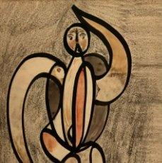 Arte: TÉCNICA MIXTA SOBRE PAPEL - 1948 - BENJAMÍN PALENCIA - FIRMADA. Lote 120112647