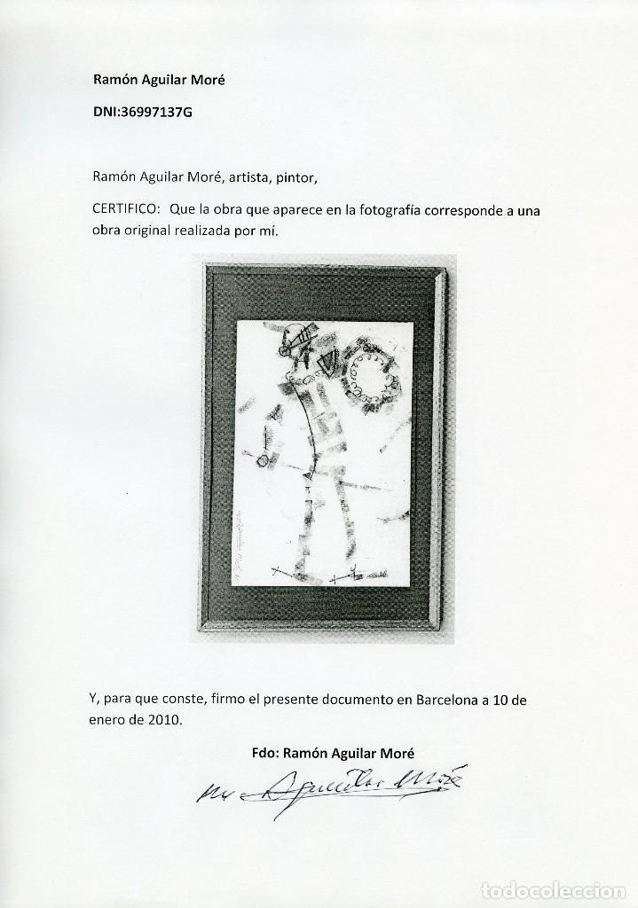 Arte: AGUILAR MORÉ. Pequeño dibujo de El Quijote - Foto 2 - 120143019