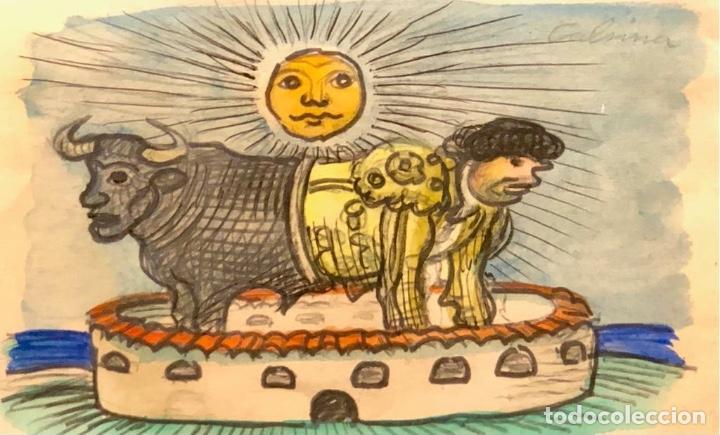 TECNICA MIXTA SOBRE PAPEL - RAMÓN CALSINA - FIRMADO (Arte - Dibujos - Contemporáneos siglo XX)