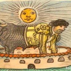Arte: TECNICA MIXTA SOBRE PAPEL - RAMÓN CALSINA - FIRMADO. Lote 120170079