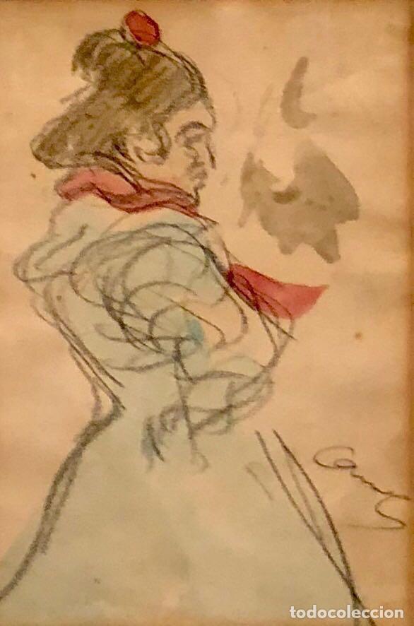 TÉCNICA MIXTA SOBRE PAPEL - RICARD CANALS - FIRMADO (Arte - Dibujos - Contemporáneos siglo XX)