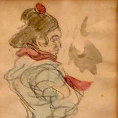 Arte: TÉCNICA MIXTA SOBRE PAPEL - RICARD CANALS - FIRMADO. Lote 120171583