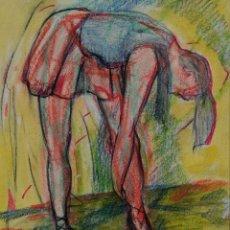 Arte: DIBUJO A LAS CERAS BAILARINA SEGUNDA MITAD SIGLO XX. Lote 120230395