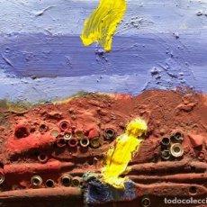 Arte: TÉCNICA MIXTA SOBRE MADERA - 1989 - ONA - GRAU GARRIGA - FIRMADA. Lote 120280319