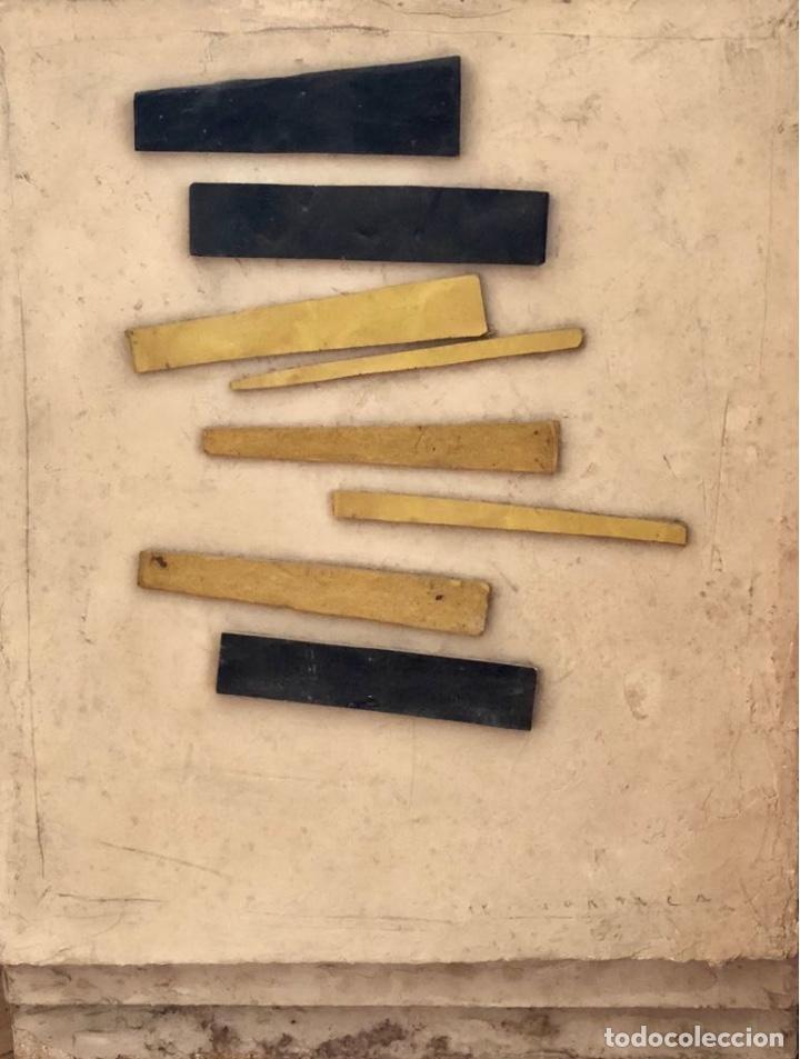 TÉCNICA MIXTA SOBRE MADERA - 1989 - LLUÍS HORTALÀ - FIRMADA (Arte - Dibujos - Contemporáneos siglo XX)