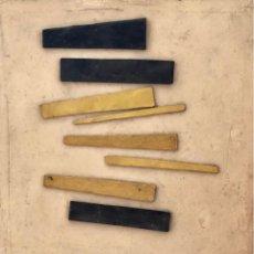Arte: TÉCNICA MIXTA SOBRE MADERA - 1989 - LLUÍS HORTALÀ - FIRMADA. Lote 120299043