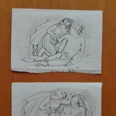 Arte: APUNTES PREPARATORIOS DE UN GRUPO ESCULTÓRICO MORTUORIO DE MANUEL OMS CANET 1873. Lote 120440363