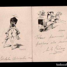 Arte: L26-8 ILUSTRADOR DIBUJANTE RICARDO MARIN ESCENA TAURINA TAMAÑO 22 X 16.50 CM.. Lote 120456131
