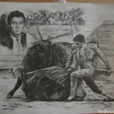 Arte: ELOY MORALES. CARBONCILLO TAURINO. Lote 120573374