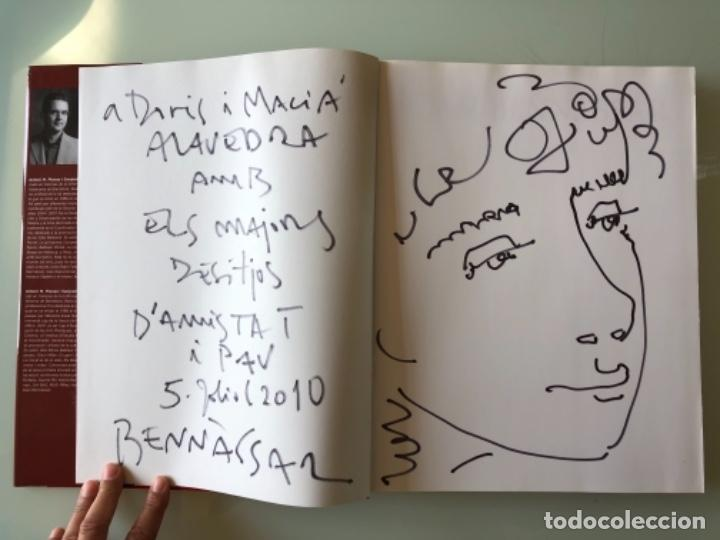 DIBUJO FIRMADO JOAN BENNASSAR EN LIBRO SOBRE EL PINTOR DE ANTONI M. PLANAS (Arte - Dibujos - Contemporáneos siglo XX)