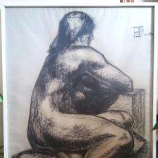 Arte: DIBUJO CARBONCILLO FIRMADO PJ MORONTA ASOCIACIÓN ESPAÑOLA DE PINTORES Y ESCULTORES. Lote 120850111