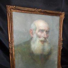 Arte: 1921 FIRMADO DIBUJO A PASTEL BONITO Y ANTIGUO MARCO. 51 X 43 CM. Lote 120917623