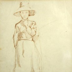 Arte: MARIE LAURENCIN (PARÍS, 1883 - 1956) DIBUJO A DOBLE CARA EN LAPIZ. Lote 178955688