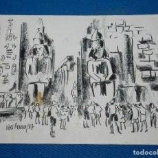 Arte: (M) DIBUJO ORIGINAL DE VIVES FIERRO 1987 , 35'5 X 25 CM, BUEN ESTADO. Lote 121118831