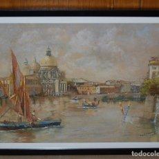 Arte: VENECIA: SANTA MARIA DE LA SALUD - FIRMADO: J.E. JAMES 1902. Lote 28338251