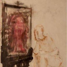 Arte: TÉCNICA MIXTA SOBRE PAPEL - SAUMELLS - FIRMADA. Lote 121242991