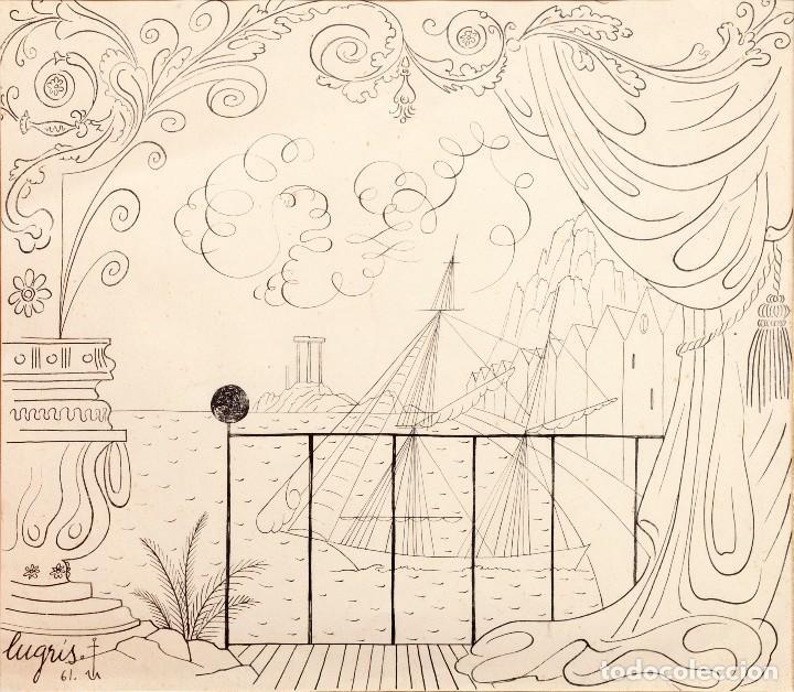 URBANO LUGRIS GONZALEZ (1908-1973) - TINTA SOBRE PAPEL - 1961 (Arte - Dibujos - Contemporáneos siglo XX)