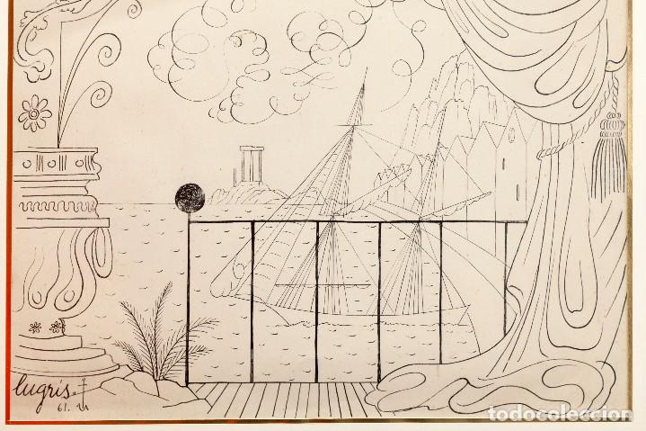 Arte: Urbano LUGRIS GONZALEZ (1908-1973) - TINTA SOBRE PAPEL - 1961 - Foto 3 - 121331419