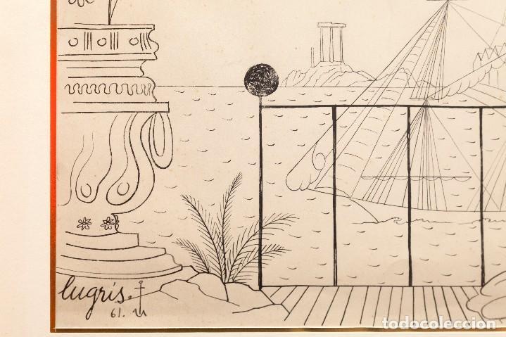 Arte: Urbano LUGRIS GONZALEZ (1908-1973) - TINTA SOBRE PAPEL - 1961 - Foto 6 - 121331419