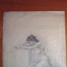 Arte: FEDERICO DEL CAMPO. ESTUDIÓ DE DESNUDO. Lote 121493715